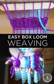 Box Loom Weaving - ทอผ้าโดยใช้ลังกระดาษ