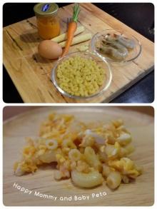 ผัดมะกะโรนีกุ้งสับ